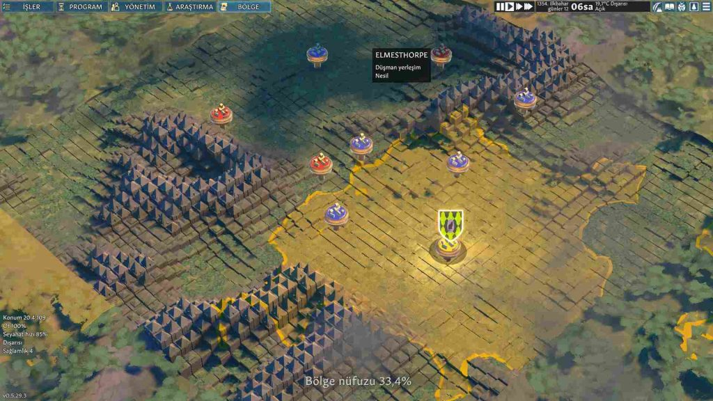 Going Medieval yerleşim ve nüfuz