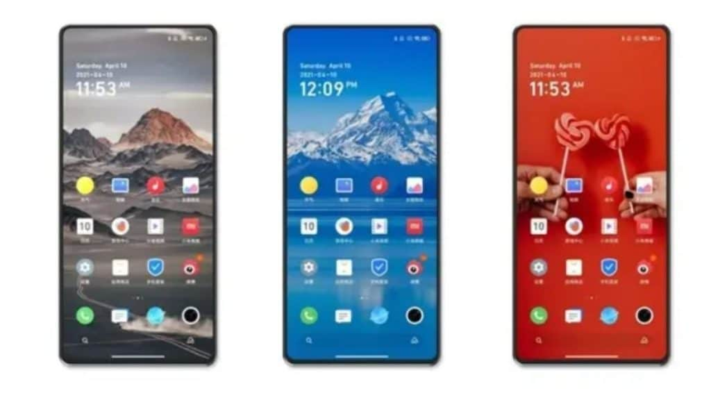 Xiaomi Mi Mix 4 tasarımı.