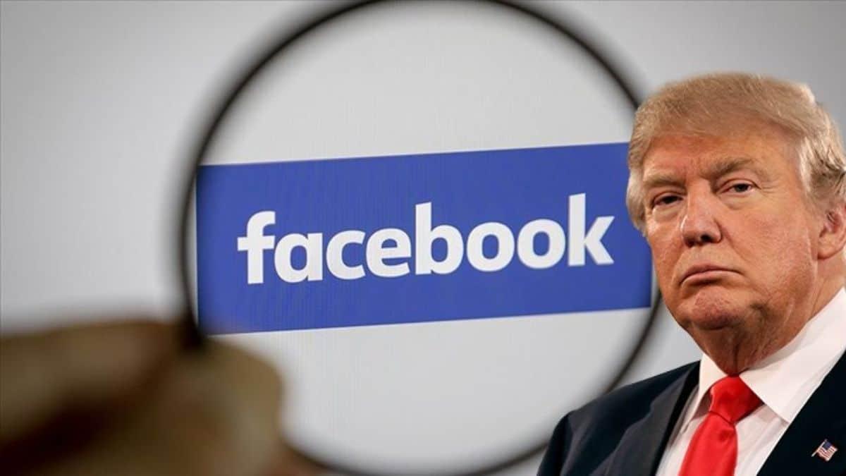 Facebook Trumpın hesaplarını 2 yıl süreyle askıya aldı.
