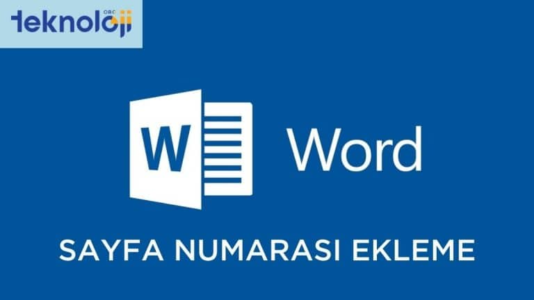 word sayfa numarası ekleme işlemi