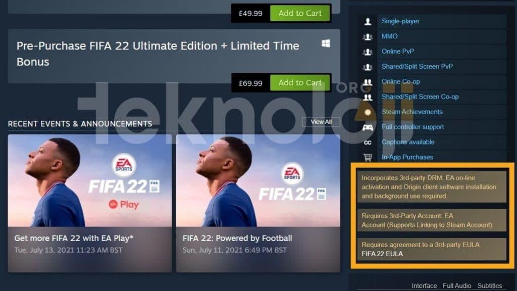FIFA 22 oyunu - teknolojiorg