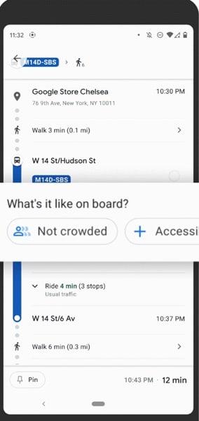 Google Haritalar Toplu Taşıma Özelliği