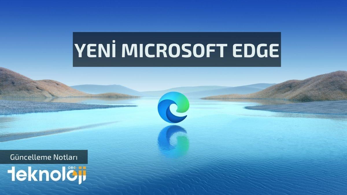 Yeni microsoft edge