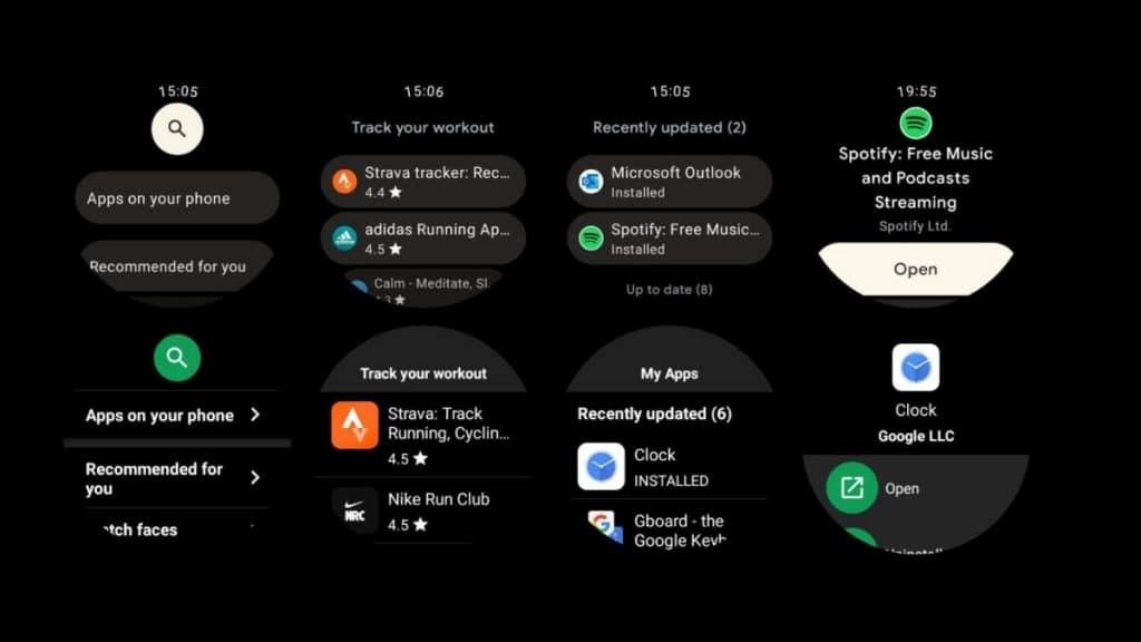 Yeni Wear OS ile Play Store uygulaması da tamamen yenileniyor.