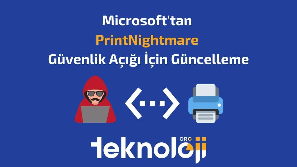printnightmare güncellemesi- teknolojiorg