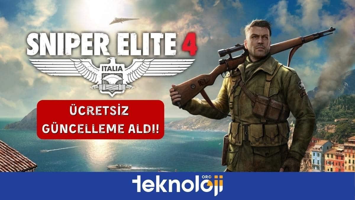 sniper elite 4 ücretsiz güncelleme