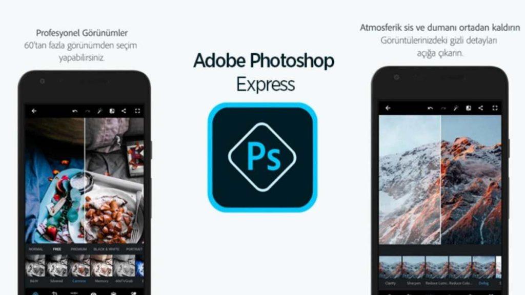 Adobe Photoshop Express uygulaması