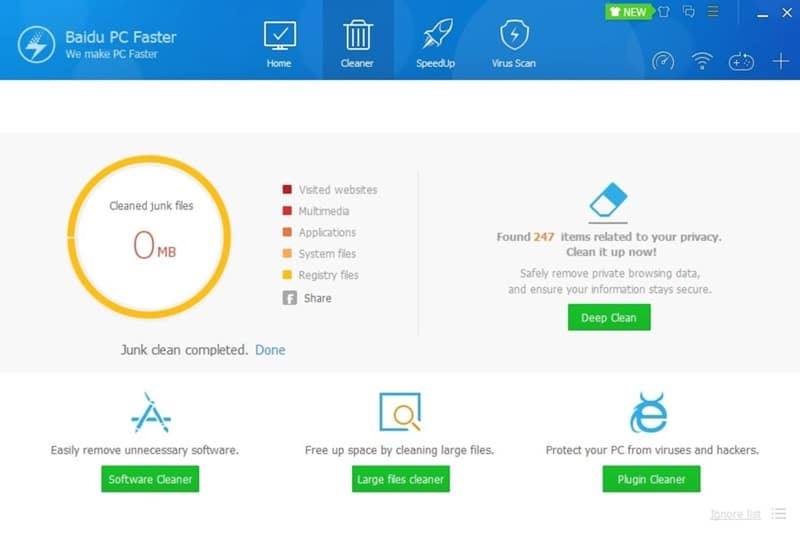 Baidu PC Faster Bilgisayar temizleme programı