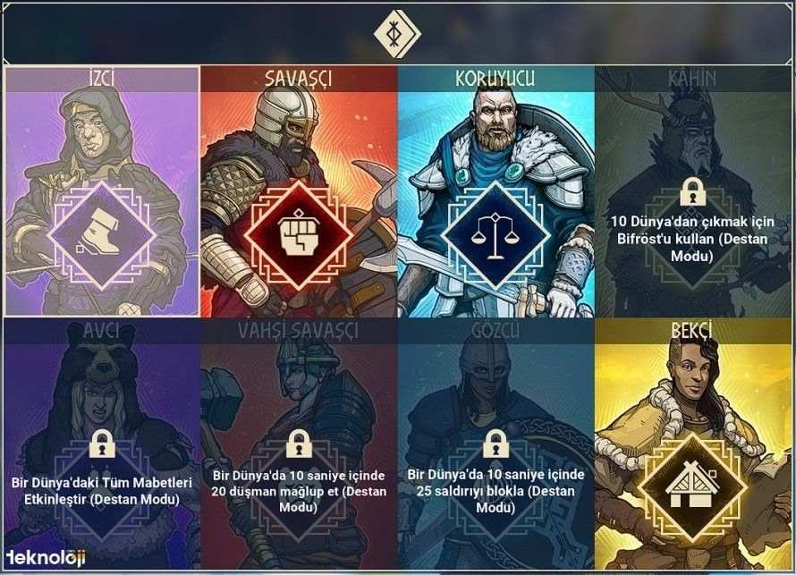 Tribes of Midgard Sınıflar
