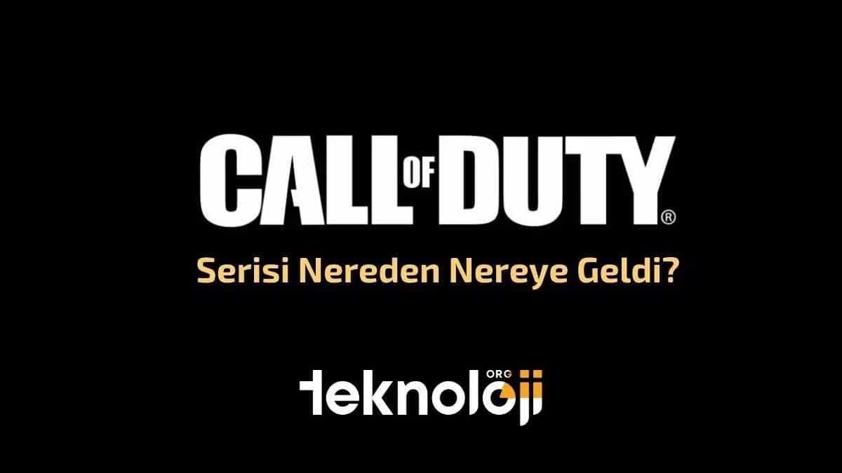call of duty serisi