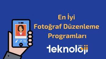 En İyi Fotoğraf Düzenleme Programı – 2021