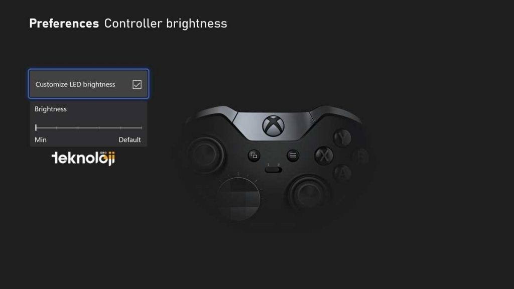xbox karanlık mod gamepad