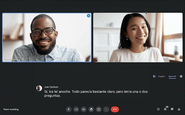 Google Meet için Çevrilmiş Altyazı Özelliği