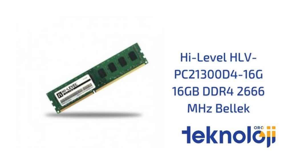Hi-Level HLV-PC21300D4-16G 16GB DDR4 2666 MHz Bellek