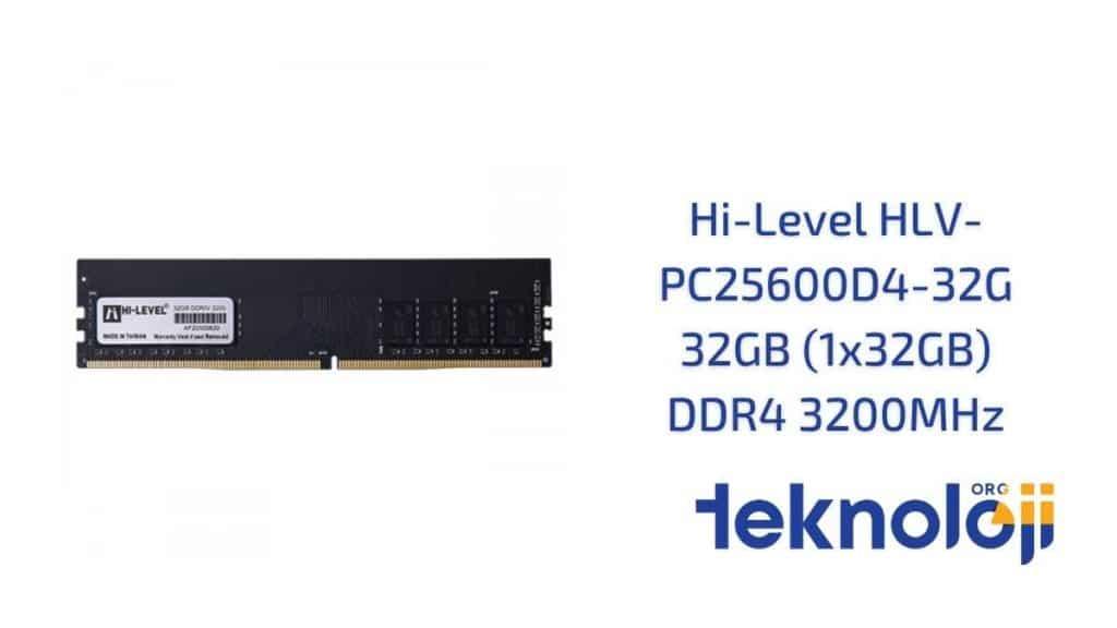 Hi-Level HLV-PC25600D4-32G 32GB (1x32GB) DDR4 3200MHz en iyi ram
