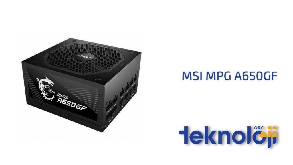 MSI MPG A650GF En İyi Güç Kaynağı