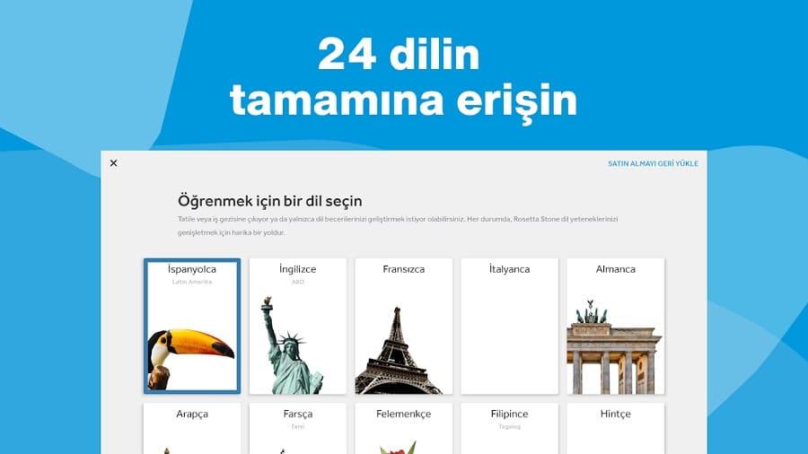 Rosetta Stone dil öğrenme uygulamaları