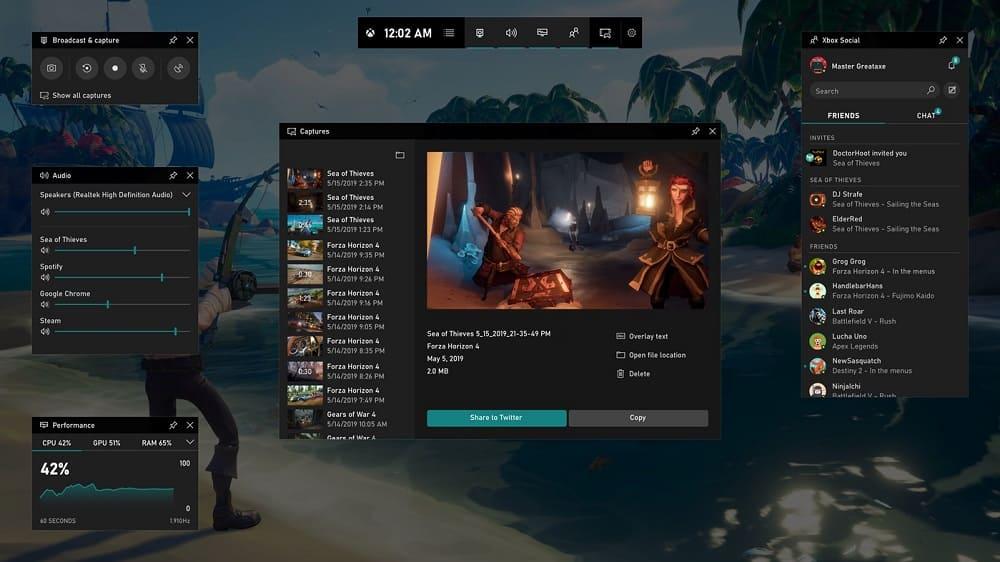 Windows Ekran Kaydedici (Xbox Game Bar)