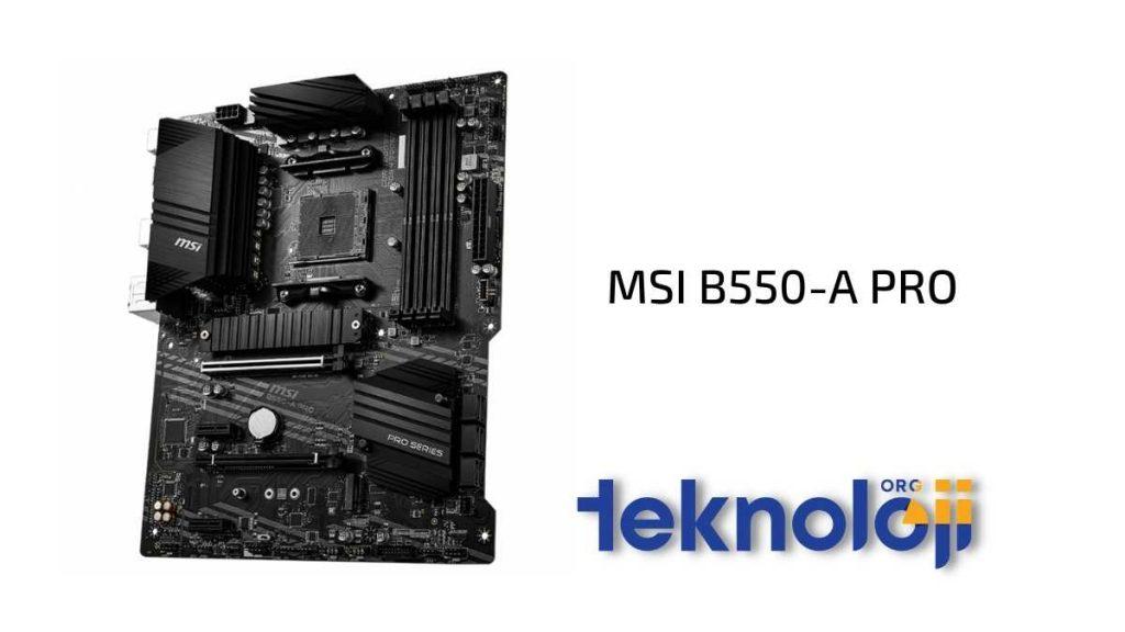 en iyi anakart modelleri - msi b550