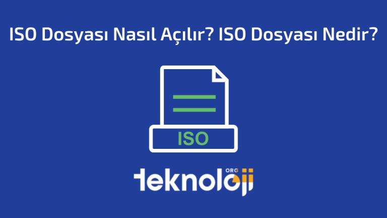 ISO Dosyası Nasıl Açılır ISO Dosyası Nedir